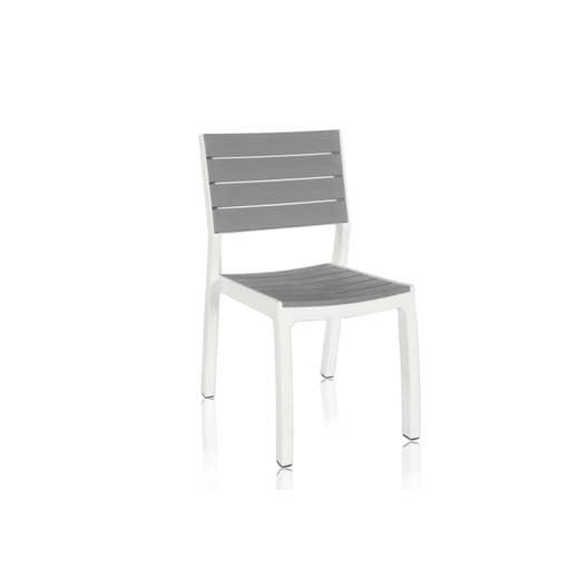 chaise de jardin en r sine harmony gris blanc leroy merlin. Black Bedroom Furniture Sets. Home Design Ideas
