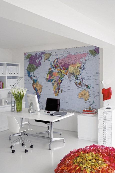 Planisphère qui se place sur un mur complet