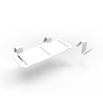 Accessoire pour lave-mains inox blanc l.18.3 x P.8 cm, Smart