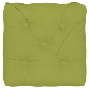 awesome galette de chaise elema inspire vert l x h cm with pouf poire gifi. Black Bedroom Furniture Sets. Home Design Ideas