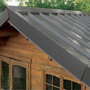 Plaque acier galvanis gris x 2m leroy merlin for Fixation faitiere bac acier