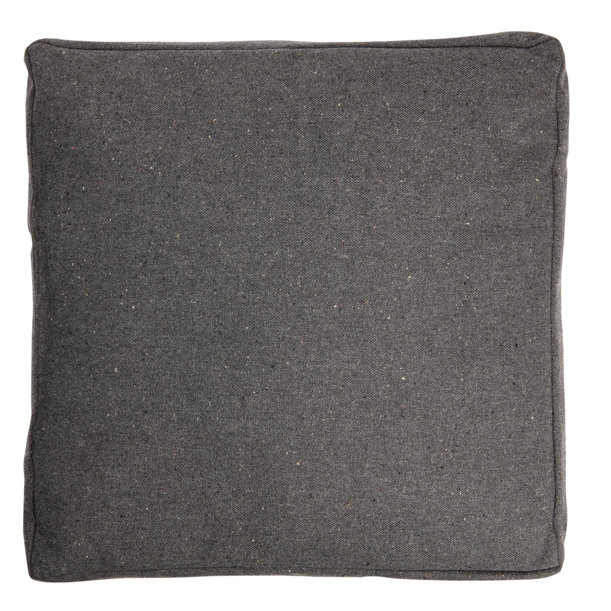 Coussin de sol imperméable Cocktail, gris anthracite l.45 x H.45 cm