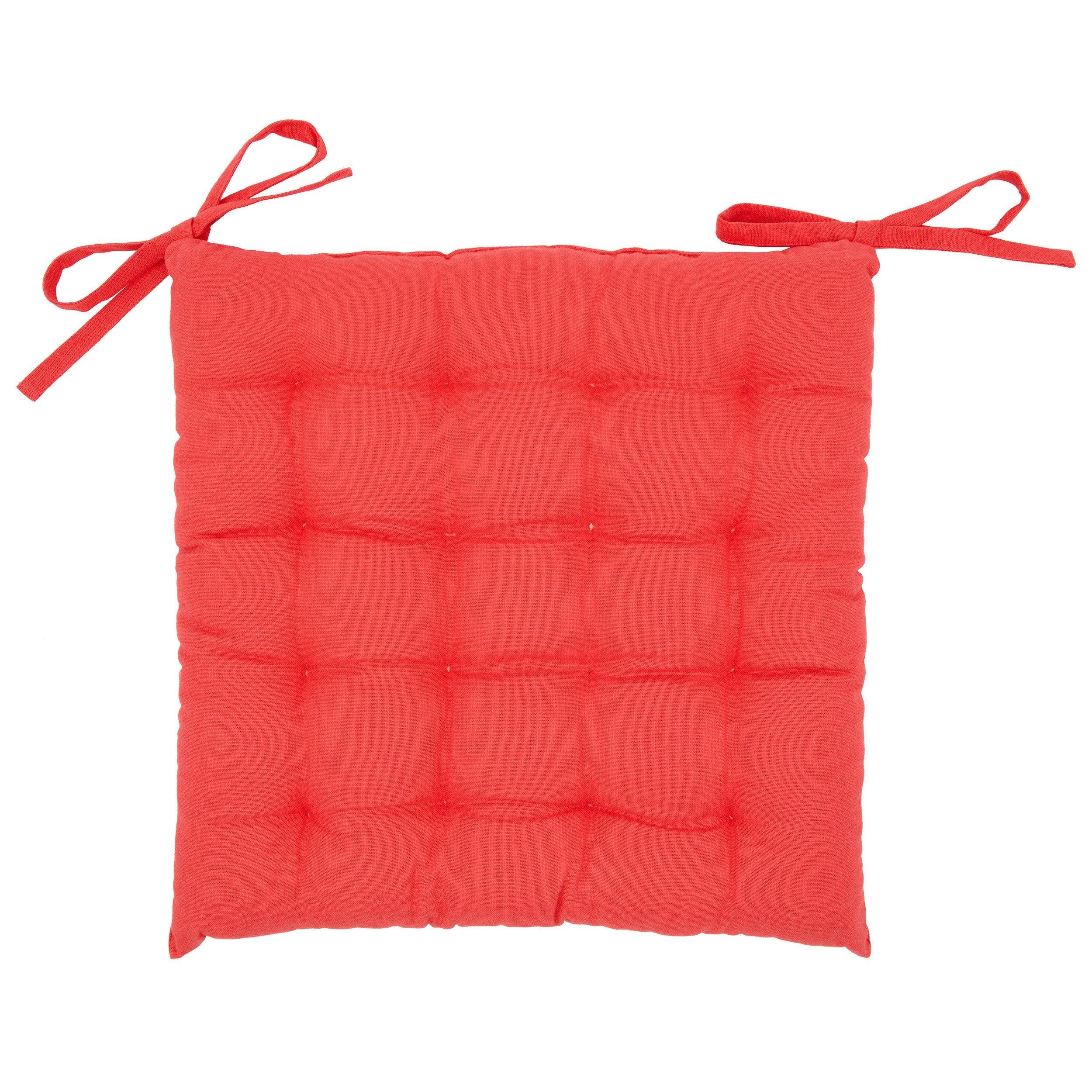 Galette de chaise Santorin, rouge l.40 x H.40 cm  Leroy