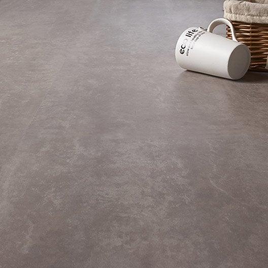 dalle pvc clipsable gris silver knock 5g premium leroy merlin. Black Bedroom Furniture Sets. Home Design Ideas