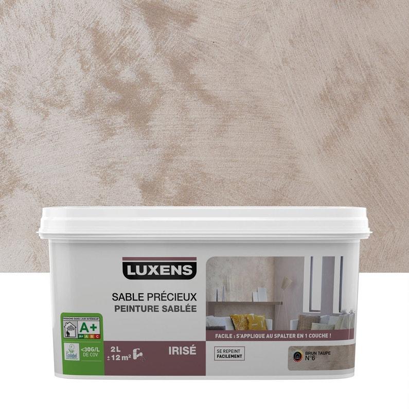 Peinture à Effet Sable Précieux Luxens Brun Taupe 6 2 L Leroy