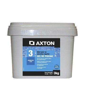 Sel de piscine spa AXTON, pastille 3 kg