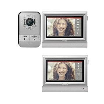 Pack visiophone 1 platine + 2 écrans filaire, LEGRAND Tactile