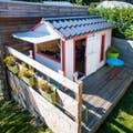 Cabane / Grange Jardin Blanc / Beige / Naturel Rose / Violet SOULET
