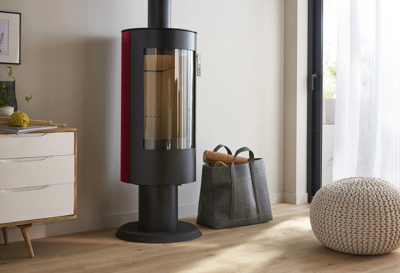 une touche de rouge pour votre po le bois confort. Black Bedroom Furniture Sets. Home Design Ideas