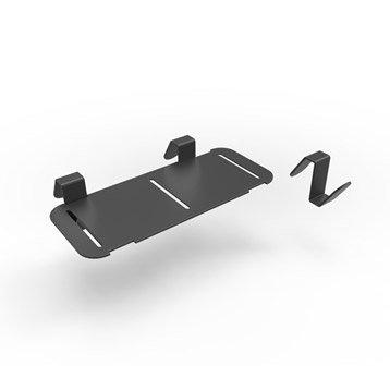 Accessoire pour lave-mains inox noir l.18.3 x P.8 cm, Smart