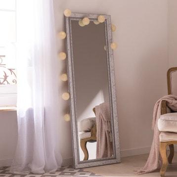 Miroir Louise Gris L40 X H140 Cm