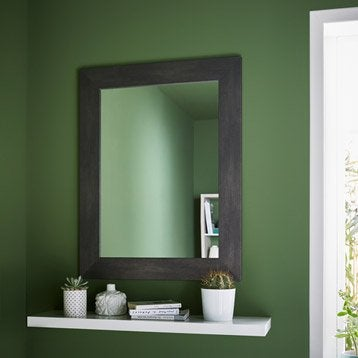 Miroir Loft, graphite,l.50 x H.70 cm