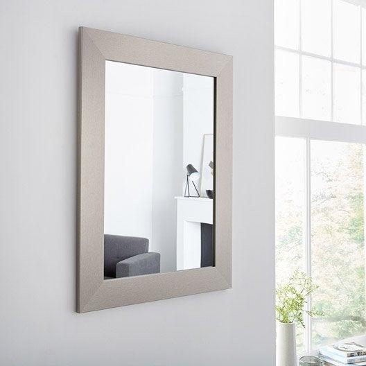 Miroir design industriel miroir mural sur pied au for Miroir sur pied 50 cm