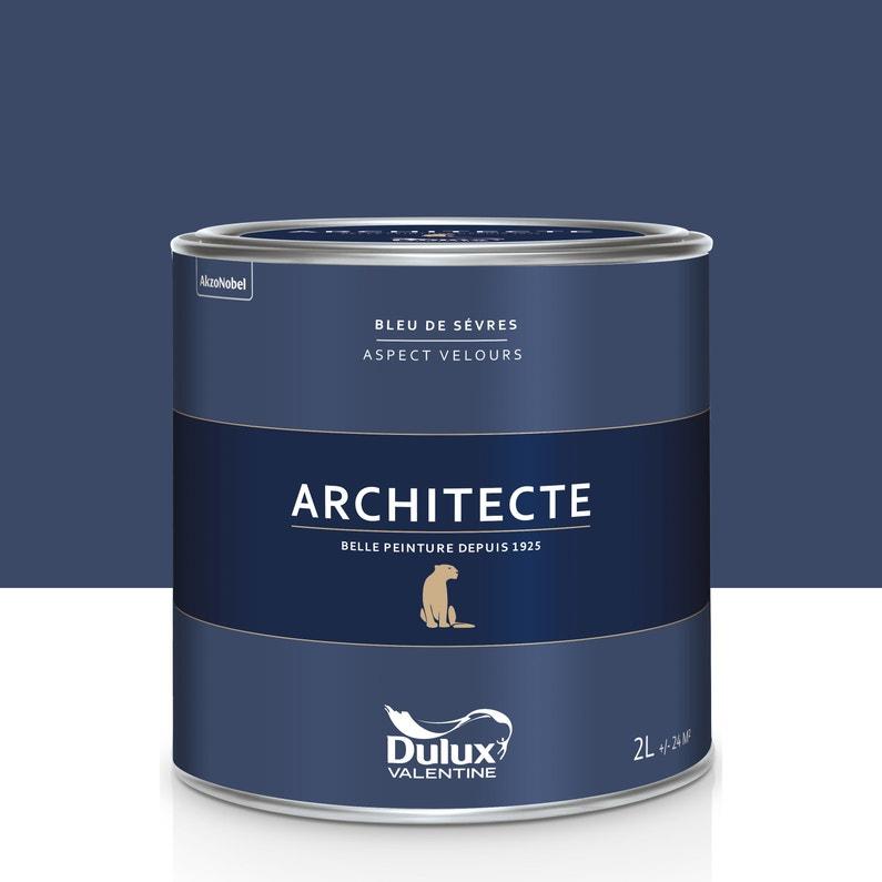 Peinture Bleu De Sevres Velours Dulux Valentine Architecte 2 L
