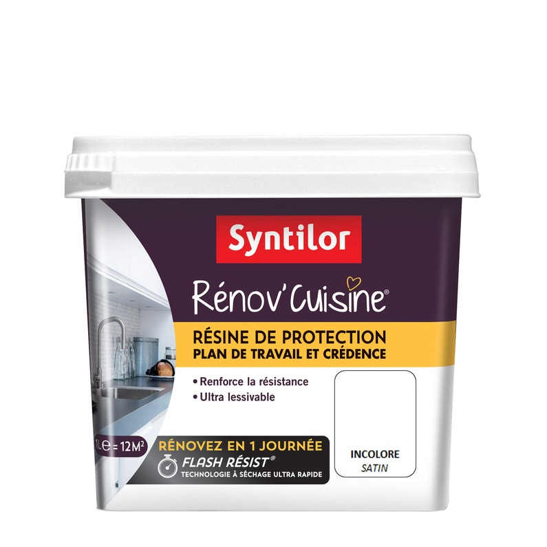 Peinture Satin Rénov Cuisine Syntilor Incolore Satin 1 L