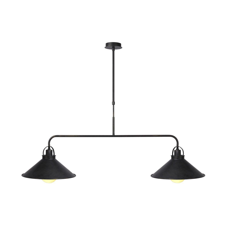 lustre e14 romantique charme berkley m tal noir 2 x 60 w lucide leroy merlin. Black Bedroom Furniture Sets. Home Design Ideas