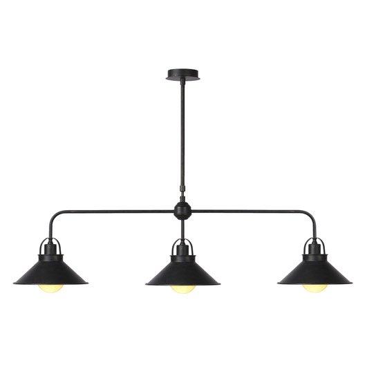 lustre e14 romantique charme berkley m tal noir 3 x 60 w lucide leroy merlin. Black Bedroom Furniture Sets. Home Design Ideas