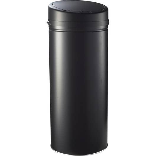 poubelle de cuisine automatique selekta plastique noir mat 42 l leroy merlin. Black Bedroom Furniture Sets. Home Design Ideas