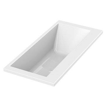 Baignoire rectangulaire L.180x l.85 cm blanc, SENSEA Premium design