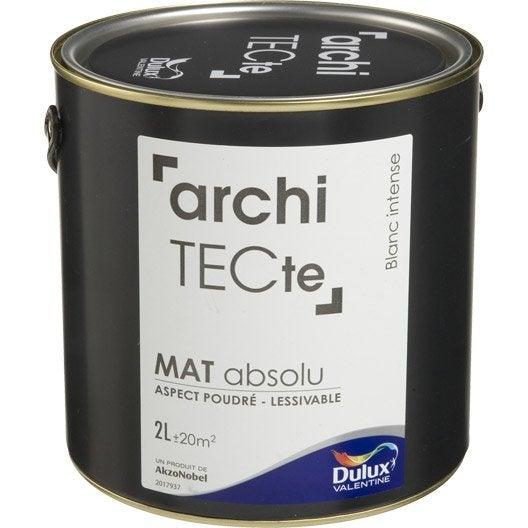 peinture blanc intense dulux valentine architecte 2 l leroy merlin. Black Bedroom Furniture Sets. Home Design Ideas
