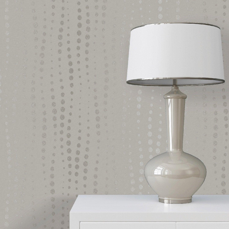 papier peint intiss oraz gris leroy merlin. Black Bedroom Furniture Sets. Home Design Ideas