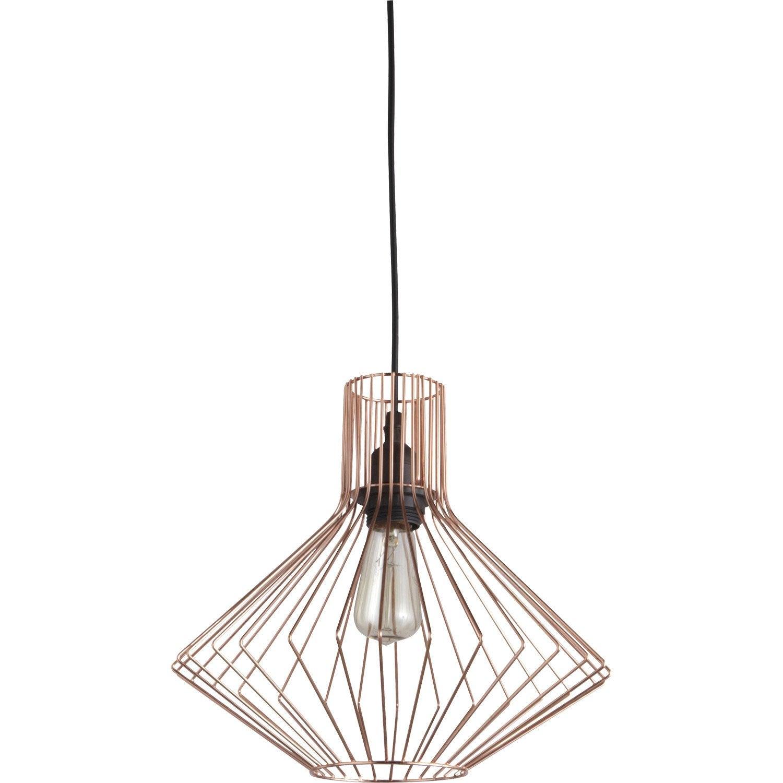 Métal Dalma Cuivre W Design Suspension Luminaire E27 Brilliant 1x60 XwZTPikOu