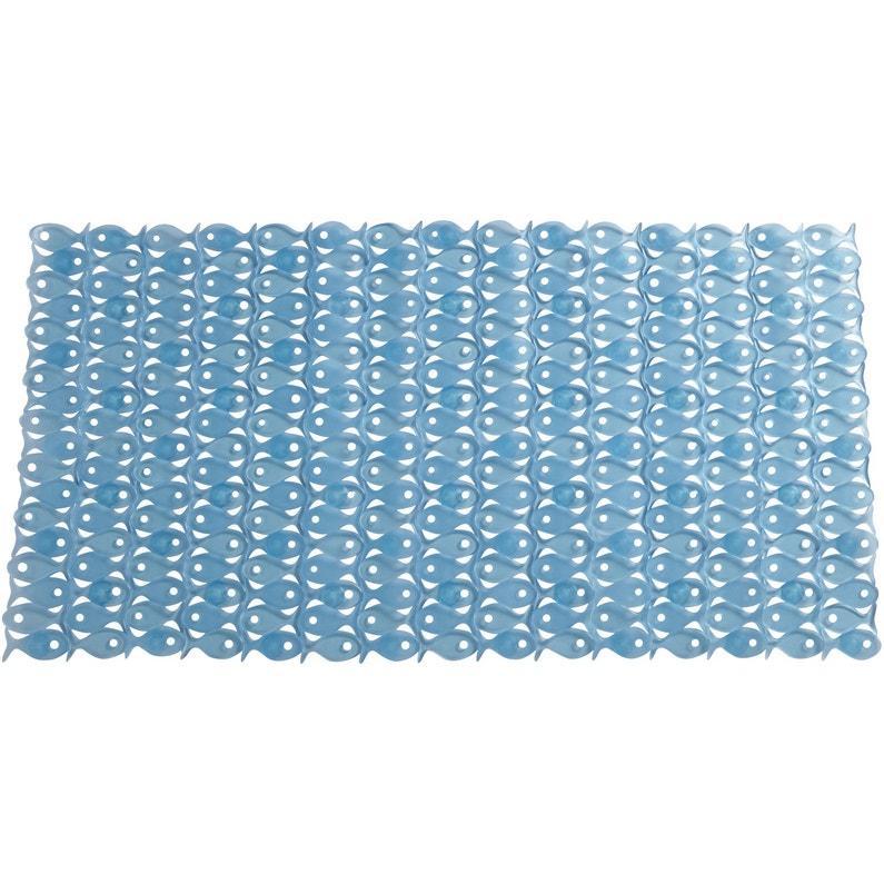 Tapis Antiderapant Bleu Pour Baignoire Fish Leroy Merlin