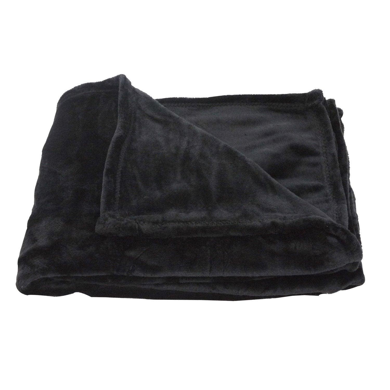 Plaid Cocoon, noir l.130 x L.180 cm