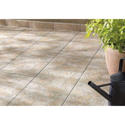 Carrelage sol beige effet pierre opus x cm for Carrelage sol rectangulaire