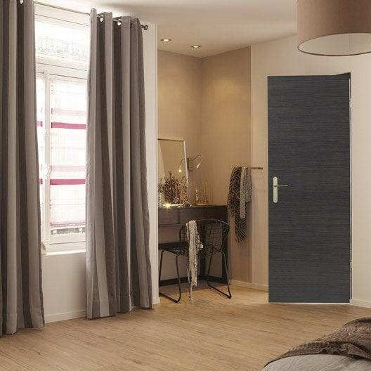 bloc porte m dium mdf rev tu d cor ch ne gris londres x cm poussa leroy merlin. Black Bedroom Furniture Sets. Home Design Ideas