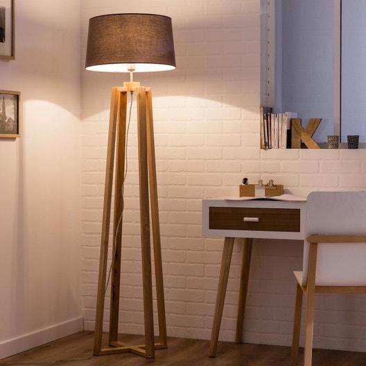 pied de lampadaire sachi bois bois 144 cm inspire. Black Bedroom Furniture Sets. Home Design Ideas