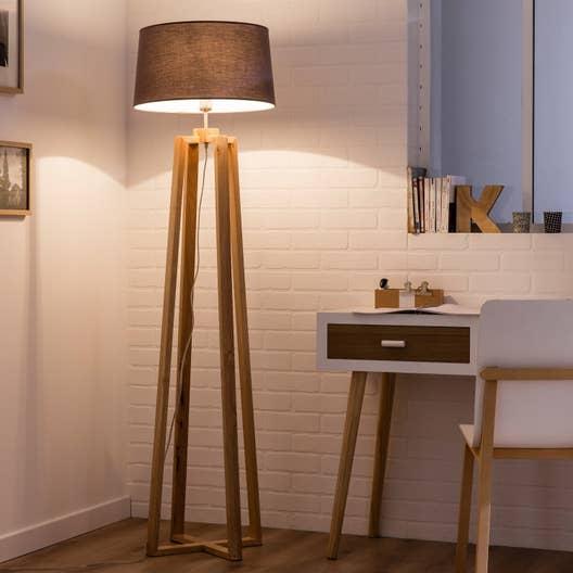 Pied de lampadaire Sachi, bois bois, 144 cm, INSPIRE | Leroy Merlin