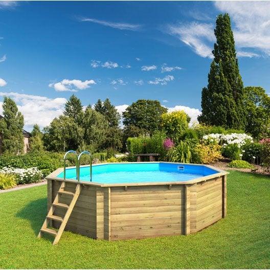Piscine piscine hors sol bois gonflable tubulaire for Piscine ubbink leroy merlin