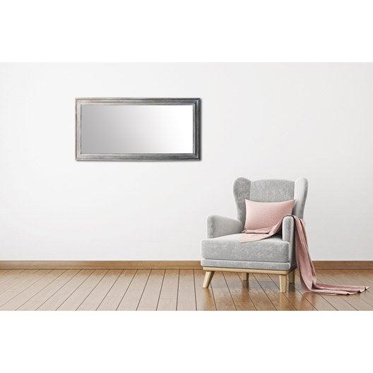 Miroir design industriel miroir mural sur pied au for Miroir 140 x 100