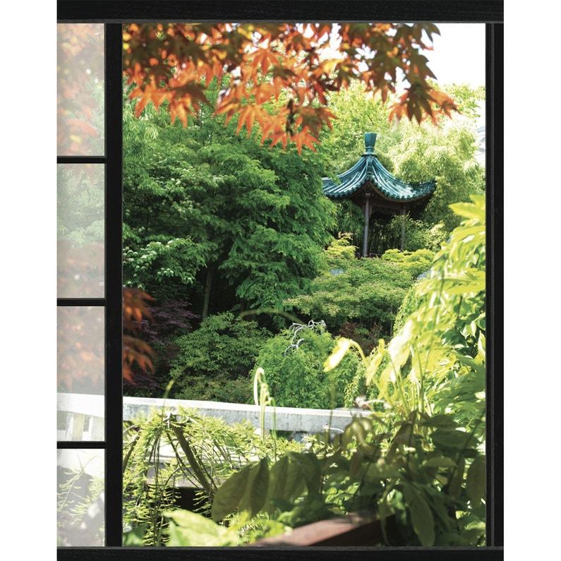 Sticker Trompe l\'oeil fenêtre sur Akita 60 cm x 75 cm | Leroy Merlin