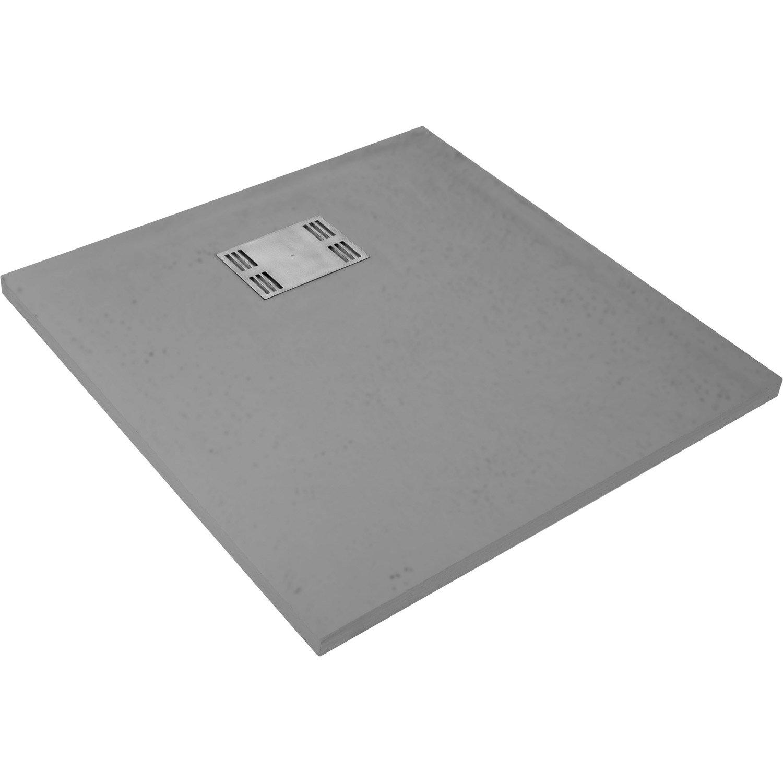 receveur de douche carr x cm r sine gris slate leroy merlin. Black Bedroom Furniture Sets. Home Design Ideas