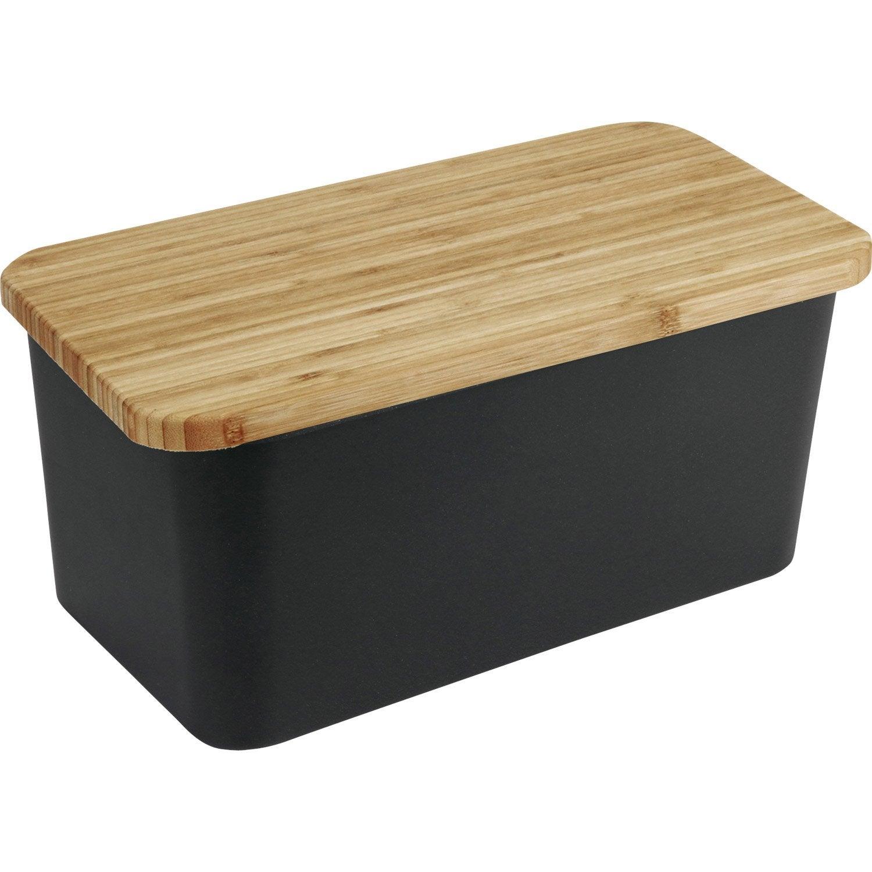 Boîte à pain bambou noir