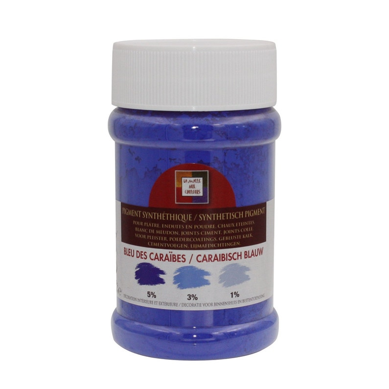 Pigment Poudre Malle Aux Couleurs Bleu Des Caraïbes 250 Ml