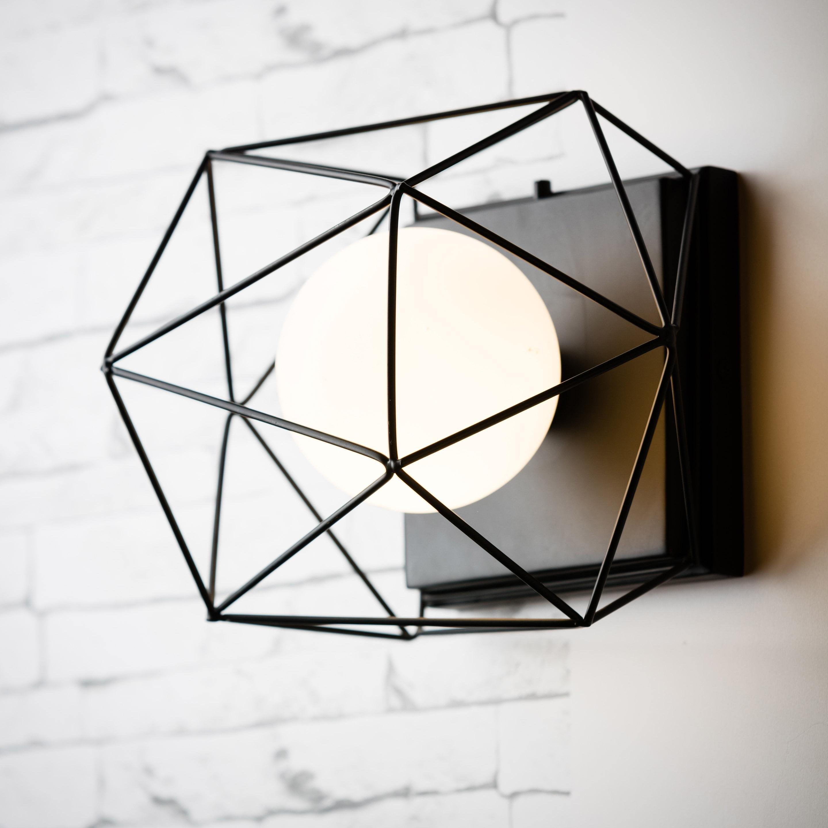 Applique métal noir BRILLIANT 1 lumière(s)