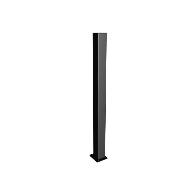 Pilier Acier à Visser Sur Platine Apprêt Noir L15 X P15 X H205 Cm