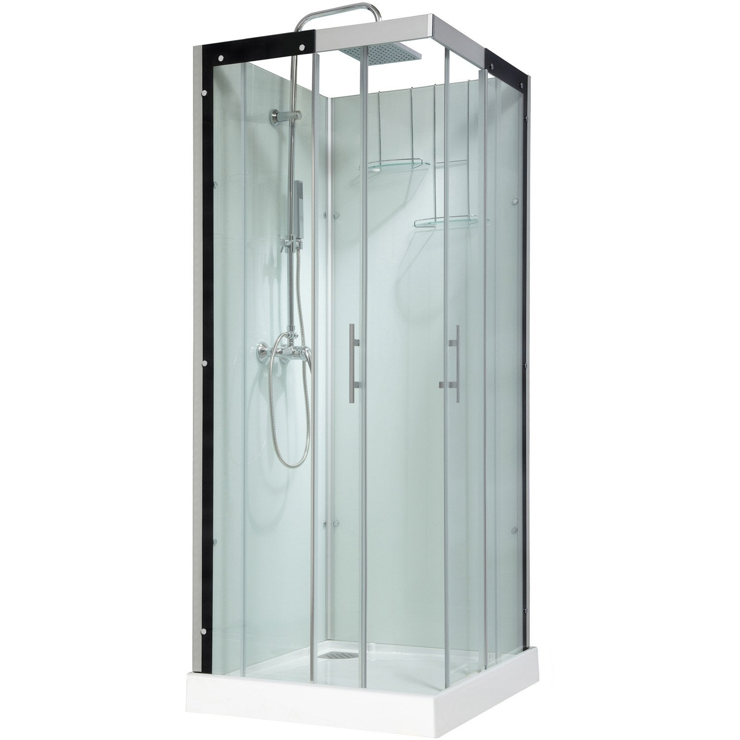 cabine de douche carr 80x80 cm thalaglass 2 mitigeur leroy merlin. Black Bedroom Furniture Sets. Home Design Ideas