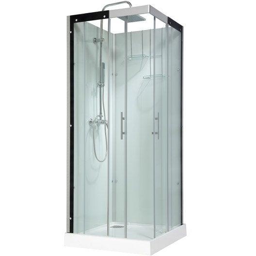 cabine de douche carr 80x80 cm thalaglass 2 mitigeur leroy merlin. Black Bedroom Furniture Sets. Home Design Ideas