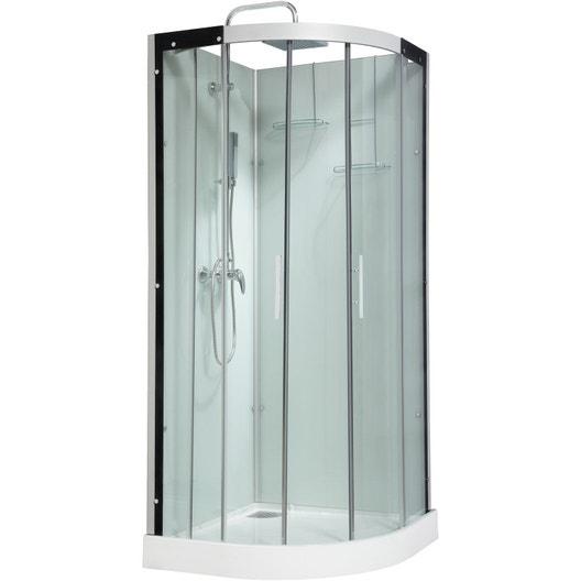 cabine de douche quart de cercle leroy merlin