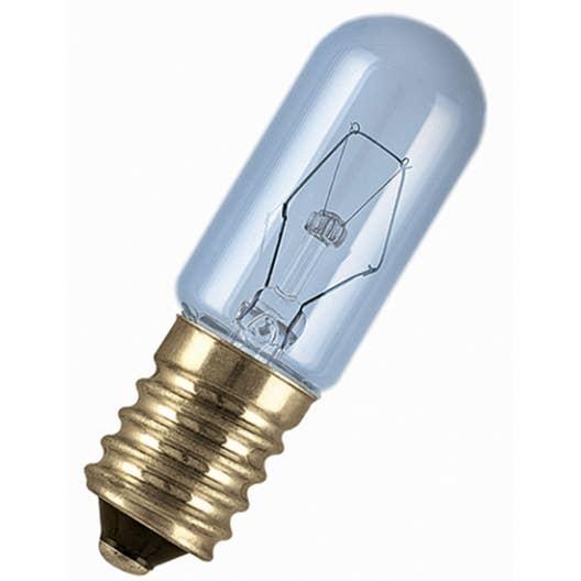 ampoule tube incandescente pour frigo15w 100lm e14 2700k osram leroy merlin. Black Bedroom Furniture Sets. Home Design Ideas