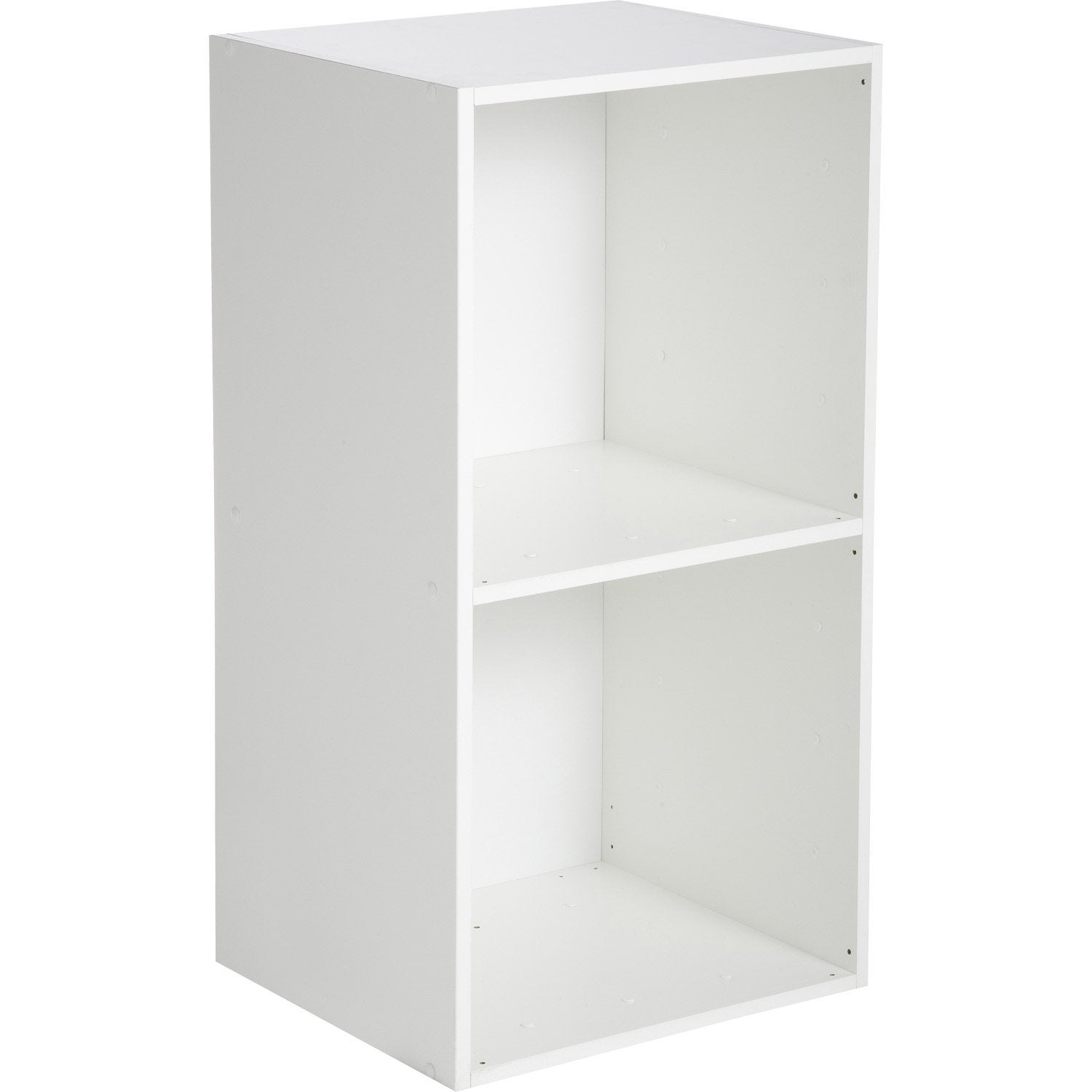 Etag re 2 cases multikaz blanc x x cm leroy merlin - Etagere et casier a chaussures ...