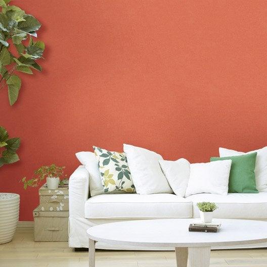 papier peint intiss lisse mat orange tangerine n 3 leroy merlin. Black Bedroom Furniture Sets. Home Design Ideas