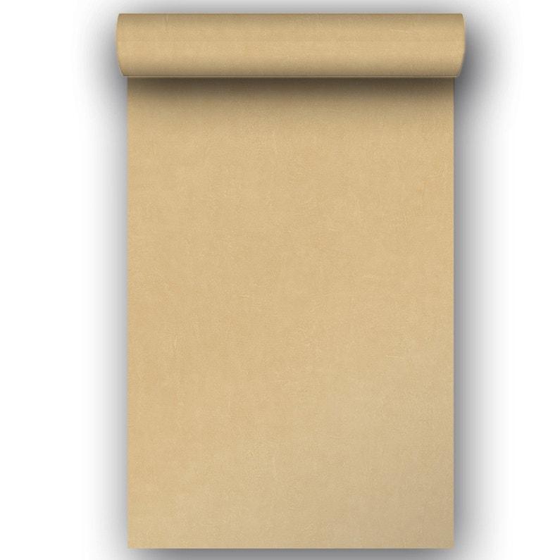 Papier Peint Intisse Beton Mat Orange Leroy Merlin