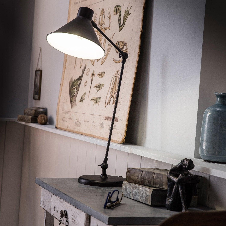 Lampe De Bureau, E14 à Poser Noir Auckland