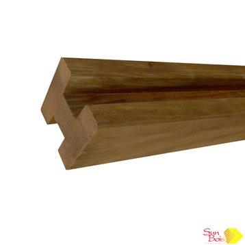 Poteau bois en h Douglas marron, H.220 x l.7 x P.7 cm