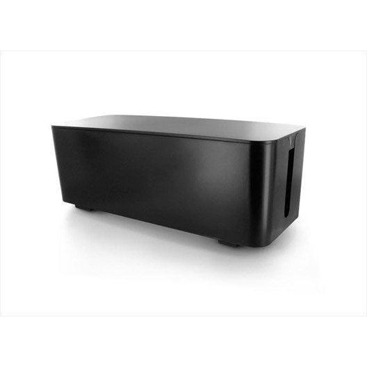 elegant bote range cbles sans fil noir with cable visiophone leroy merlin. Black Bedroom Furniture Sets. Home Design Ideas